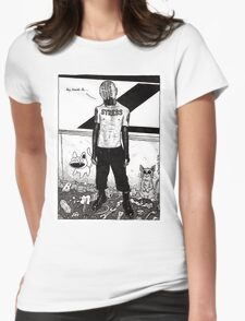 Dystopia 01 Womens Fitted T-Shirt