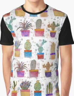 Watercolor hand paint cactus pattern Graphic T-Shirt