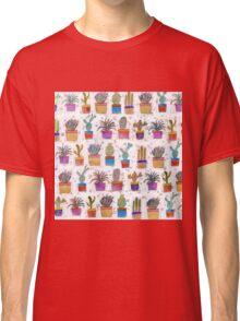 Watercolor hand paint cactus pattern Classic T-Shirt