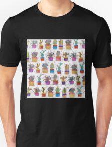 Watercolor hand paint cactus pattern T-Shirt