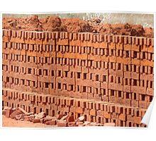 Brick Adobe Red Wall Poster