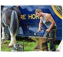 Making Horseshoes ~ Buckham Fair Poster
