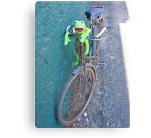 Bike Old Cycling Frog Kermit Canvas Print