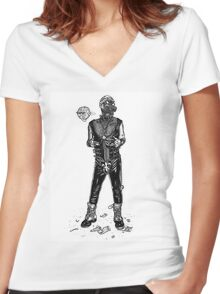 Dystopia 04 Women's Fitted V-Neck T-Shirt