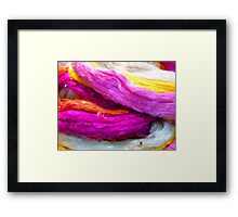 Raw Silk Colored Colorful Framed Print
