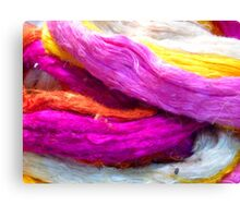 Raw Silk Colored Colorful Canvas Print