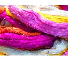 Raw Silk Colored Colorful Photographic Print