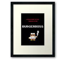 burger boss arcade Framed Print