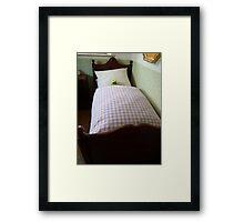 Frog Kermit Tired Sleep Bed Framed Print