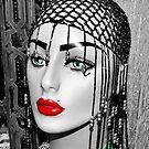 Green Eye Lady (Head) by rosaliemcm