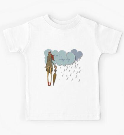 It's a rainy day Kids Tee