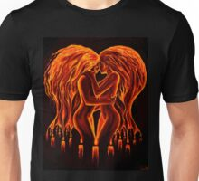 Flames of love and passion Unisex T-Shirt