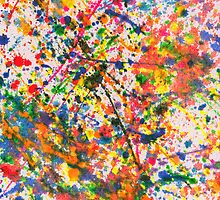 Abstract - Crayon - Mardi Gras by Mike  Savad