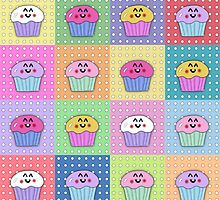 Quilted Cupcake Pop Art by kalliopekat