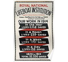 Royal National Lifeboat Institution Our work in 1914 455 Poster