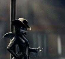 Kept Waiting - 'Film Noir' Shark Sticker