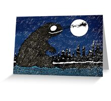 Winter Sea Monster Greeting Card