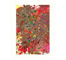 Abstract - Crayon - Montazuma's Revenge Art Print