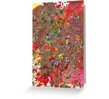 Abstract - Crayon - Montazuma's Revenge Greeting Card