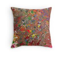 Abstract - Crayon - Montazuma's Revenge Throw Pillow