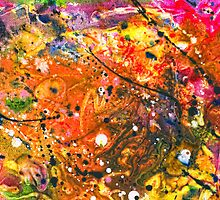 Abstract - Crayon - The Excitement by Mike  Savad