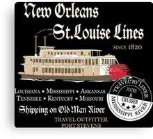 Mississippi River Line Canvas Print