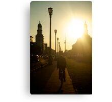 Sunset, Friedrichshain Canvas Print