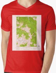 USGS Topo Map Washington State WA Mount Olympus 242519 1956 62500 Mens V-Neck T-Shirt