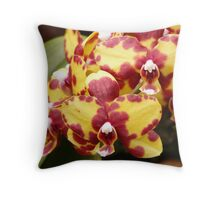 Orchid Mackerel Yellow Purple Violet Red Throw Pillow