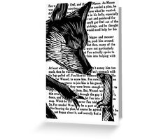 The Dark Wood 'Fox and Weasel' Illustration Greeting Card