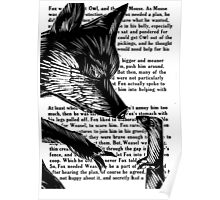 The Dark Wood 'Fox and Weasel' Illustration Poster