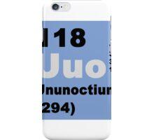 Periodic Table of Elements: No. 118 Ununoctium iPhone Case/Skin