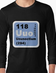 Periodic Table of Elements: No. 118 Ununoctium Long Sleeve T-Shirt