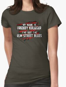 Elm Street Blues (Reuben) Womens Fitted T-Shirt