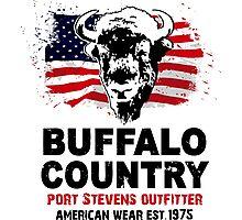 Buffalo USA Flag Photographic Print