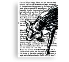 The Dark Wood 'Stalking Fox' Design Canvas Print