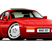 Porsche 944 personalized for Kelli by car2oonz