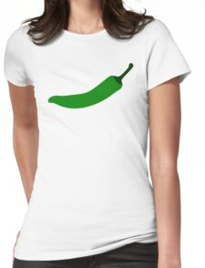Green Chili Pepper Womens Fitted T-Shirt