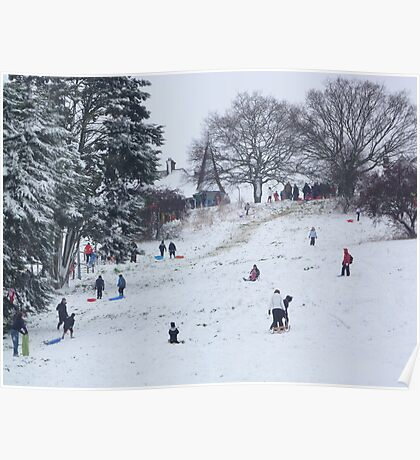 Snow hills Poster