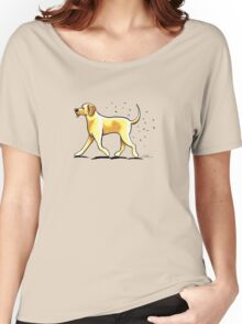 Yellow Lab Hairy Wake Women's Relaxed Fit T-Shirt