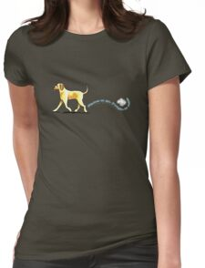 Yellow Lab Places to Go Womens Fitted T-Shirt
