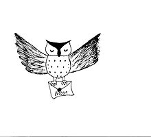Harry Potter Owl Ink Drawing by holmes4potter