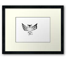 Harry Potter Owl Ink Drawing Framed Print