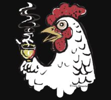 Giant Coffee Drinking Chicken Shirt by © Cindy Schnackel