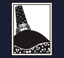 The wizard, vector drawing in black and white Baby Tee