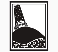 The wizard, vector drawing in black and white Kids Tee