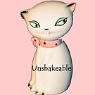 Unshakeable - Vintage Kitty salt shaker made for iPhone by HanieBCreations
