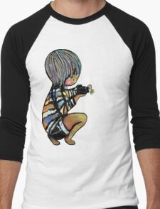 Smile Daisy Photographer Men's Baseball ¾ T-Shirt