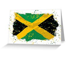 Jamaica Flag - Vintage Look Greeting Card