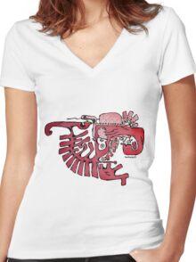 Be patien! its dangerous Women's Fitted V-Neck T-Shirt